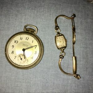 Jewelry - Men and women vintage gold watches